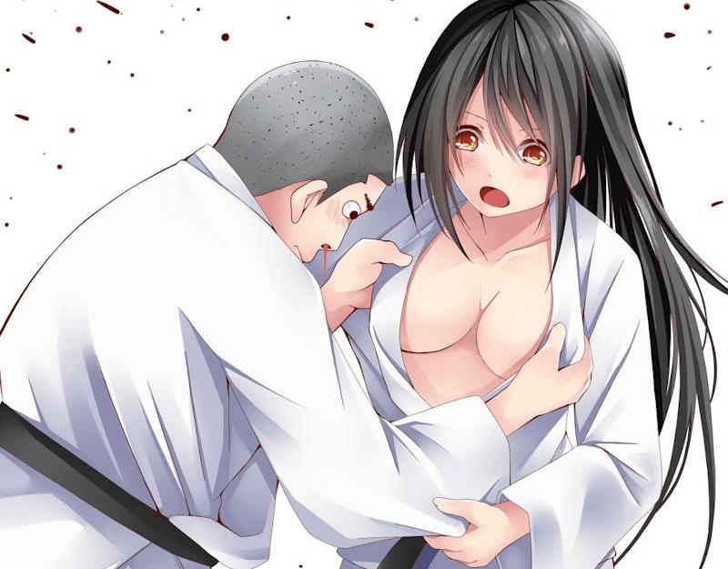 【二次元】柔道着がはだけておっぱいポロリしてる柔道娘のエロ画像!