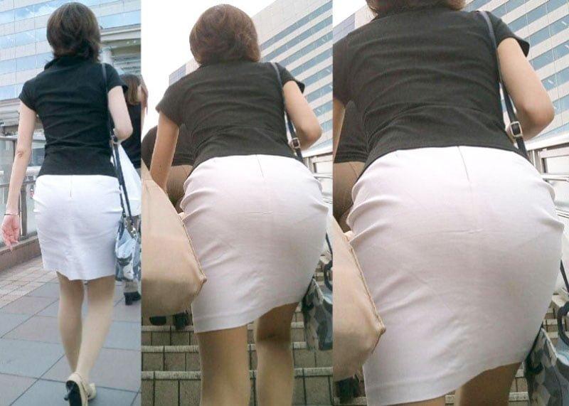【着衣巨尻画像】衣服がはち切れそうなデカケツ女子たち!130枚